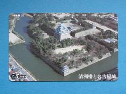 JAPAN PHONECARD NTT 291-166 AERIAL VIEW NAGOYA CASTLE - Giappone