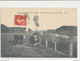 95 AUVERS SUR OISE PATURAGE AU BORD DE L OISE CPA BON ETAT - Auvers Sur Oise
