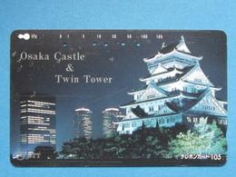 JAPAN PHONECARD NTT 331-193 OSAKA CASTLE & TWIN TOWER - Giappone