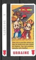 Carte De Transport - TEC - BD Spirou - Transport En Commun Belgique - 2000 - Bus
