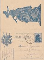 TRESOR ET POSTES CLFM 1916 TRESOR ET POSTE *42* - Marcophilie (Lettres)