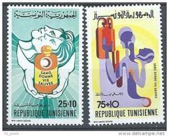 "Tunisie YT 773 & 774 "" Croissant-Rouge "" 1974 Neuf** - Tunisia"