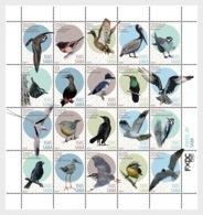M ++ CARIBISCH NEDERLAND SABA 2019 BIRDS VOGELS OISEAUX  ++ MNH POSTFRIS - Curaçao, Antilles Neérlandaises, Aruba