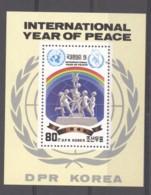 Corée Du Nord  -  1986  -  Blocs  :   Yv  38  **   Paix Dans Le Monde - Corée Du Nord