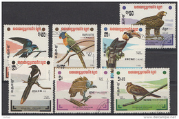 KAMPUCHEA MI.503-509 Vögel  1983 USED GEBRUIKT OBLITERE - Vogels