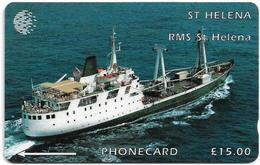 St. Helena - C&W - GPT - Ships - R.M.S. St. Helena (1977-1990) - 5CSHC (Dashed Ø), 1.500ex, Used - St. Helena Island