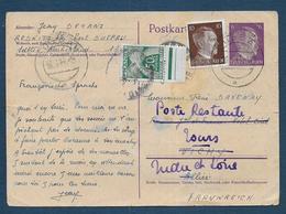 Carte  D' Un Travailleur S.T.O  Taxée à 50 C ( Poste Restante ) - Postmark Collection (Covers)