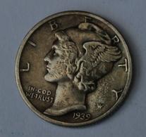 V.S. ONE DIME 1939  MERCURY  LOOK 2 SCANS - 1916-1945: Mercury