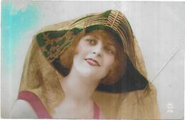 CPA COLORISEE FANTAISIE  -  PORTRAIT DE FEMME - 010220 - - Women
