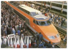 TGV Sud-Est Inauguration Ligne Paris-Nice Le 4 Avril 1987 Gare De Nice En Présence Du Député-Maire Jacques Médecin - Treni