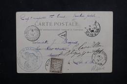 FRANCE / ALGÉRIE - Carte Postale En FM Des Troupes D'Occupation Saharienne Pour La France 1903 , Taxé - L 51795 - Marcophilie (Lettres)