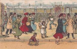 """Publicité """"CHAPPELERIE S.CASSIER Lyon- Scène De Rue Enfant, Mode (lot Pat 103) - Publicité"""