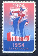 VIGNETTE ERINNOPHILIE FOIRE DE PARIS 1954 - Sonstige