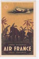AVIATION: AIR FRANCE Carte Publicitaire De 1948 (petit Format) Ref 262-P-7/48 Alépée & Cie Paris - Unclassified