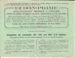 1/2 Bon-Prime Exclusivement Réservé à L'Epicier (Levure, Flan Alsa) - Bonds & Basic Needs
