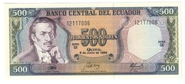 ECUADOR500SUCRES08/06/1988P124UNC.CV. - Ecuador