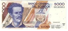 ECUADOR5000SUCRES22/06/1992P128UNC.CV. - Ecuador