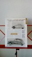 Fiche Collection Automobile Citroen 2cv 1946-1948 La Dernière Ligne Droite - Voitures