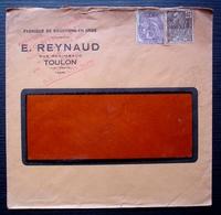Toulon 1931 E. Reynaud Fils Rue Regimbaud. Fabrique De Bouchons En Gros, Avec Cachet Rouge Ajouté - Marcofilie (Brieven)
