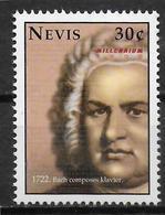NEVIS  N° 1320 * *  Millennium  Musique Jean Sebastien Bach - Musique