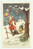BUON NATALE  - SANTA CLAUS E BAMBINO ILLUSTRATA GALBIATI  VIAGGIATA  FP - Santa Claus