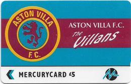UK (Paytelco) - Football Clubs - Aston Villa Logo - 3PFLP - 5.900ex, Used - Reino Unido