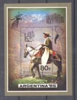 Corée Du Nord  -  1985  -  Blocs  :   Mi  201  **  Argentina 85  ,  Cheval - Korea, North