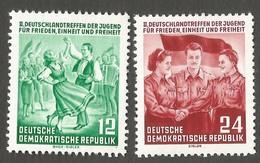 East Germany/DDR. 1954 Youth Congress. SG E182-183. CV £3.40. MNH - [6] Repubblica Democratica