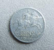 Monnaie D'Espagne—10 Centimos Pesetas—1940—Très Mauvais état - 10 Céntimos