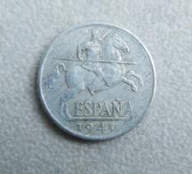 Monnaie D'Espagne—10 Centimos Pesetas—1940—Mauvais état - 10 Céntimos