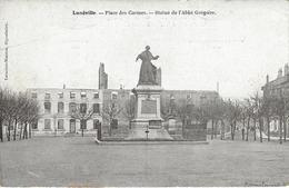 54 LUNEVILLE PLACE DES CARMES STATUE DE L' ABBE GREGOIRE Editeur LEMOINE MASSON - Luneville