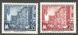 East Germany/DDR. 1954 The 10th Anniversary Of The Death Of Ernst Thälmann. SG E187-188. CV £2.70. MNH - [6] Repubblica Democratica