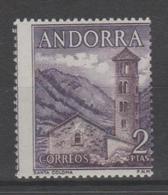 ANDORRA CORREO ESPAÑOL  SELLO CON EL TALADRO MUY DESPLAZADO (S.2) - Andorra Española