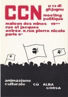 CORSE CORSICA A RISCOSSA AFFISU DI LOTTA 1981 - Francia