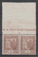 ANDORRA CORREO ESPAÑOL  SELLO Nº 28 UNO DE LOS SELLOS SIN PIE DE IMPRENTA (S.2) - Andorra Española