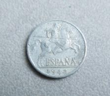 Monnaie D'Espagne—10 Centimos De Peseta—1945 - 10 Céntimos