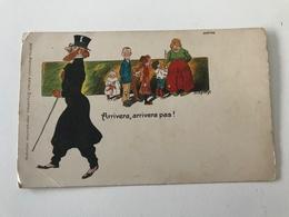 Carte Postale Ancienne   Humour Arrivera, Arrivera Pas !Marco Marcovici , éditeur Bruxelles - Humour