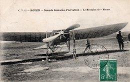 Dép. 76 - ROUEN - Circulé - Semaine De L' Aviation - Le Monoplan De MORANE - Rouen
