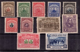 Pérou YT N° 189/198 Et PA N° 12 Neufs *. B/TB. A Saisir! - Pérou