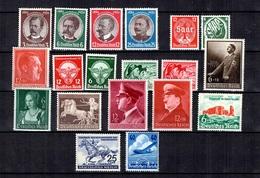 Allemagne/Reich Belle Petite Collection Neufs ** MNH 1934/1942. Bonnes Valeurs. B/TB. A Saisir! - Germania