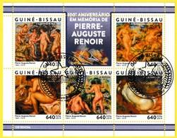 Bloc Feuillet Oblitéré - 100e Anniversaire De La Mort De Piere-Auguste Renoir - Guinée-Bissau 2019 - Guinée-Bissau