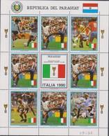 Soccer World Cup 1990 - PARAGUAY - Sheet MNH - Coppa Del Mondo