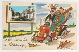 37 - Bien Arrivée à Charnizay -      Humoristique Avec Minivues Par Jean De Preissac - Otros Municipios