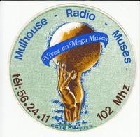 Autocollant -  MULHOUSE RADIO MUSES 102 MHZ - Pegatinas