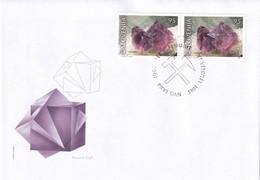 Slovenia Slovenie Slowenien 2001 Fdc Cover: Mi 345-6; Minerals Fossils; Fluorit; Škofja Loka Cancellation Mine RARE - Geologie