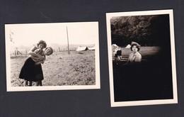 Photo Originale (2)  Scoutisme Longeville Les Metz Camp De Louveteaux  à Hesse Moselle Cheftaine Akela Jeune Fille 1963 - Scoutisme