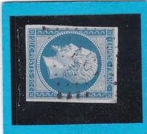 N° 14A  PC 1965  MERDRIGNAC  ( 21 )   COTES Du NORD - REF 14112  - IND 7 - COTE 30€ - 1853-1860 Napoleon III