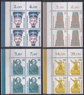 BRD, Sehenswürdigkeiten (V), 1989, Mi.Nr. 1398-1401 ** 4 Eckrand-Viererblöcke Oben Links - Nuovi