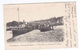 ILE D'OLERON St Trojan Les Bains - Le Port, Départ  Du Bateau Pour Le Chapas (  Circulée) - Ile D'Oléron
