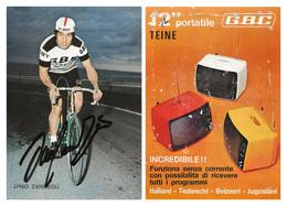 CARTE CYCLISME DINO ZANDEGU SIGNEE TEAM GBC 1972 - Cyclisme